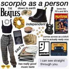 Venus in Scorpio is a thing honestly Retro Outfits, Grunge Outfits, Cool Outfits, Fashion Outfits, Queer Fashion, Scorpio Zodiac, Zodiac Signs, Scorpio Scorpio, Zodiac Art