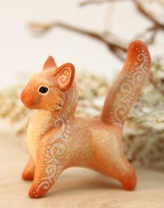 Polymer clay Animal Figurine Sculpture, Animal Sculpture, Fantasy velvet clay animals by Evgeny Hontor  #claycrafts #velvetclay #fantasyanimals
