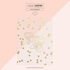 Quality DigiScrap Freebies: Choose Happy vellum card freebie from Digital Design Essentials