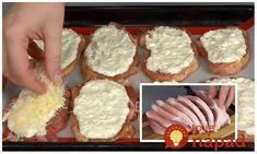 Vynikajúci tip, ako pripraviť bravčové mäso bez vyprážania a predsa šťavnaté a veľmi chutné. Žiadne obaľovanie ani dlhá príprava a výsledok je naozaj vynikajúci. Meat Recipes, Cooking Recipes, What To Cook, Main Meals, Ham, Side Dishes, Muffin, Good Food, Pork