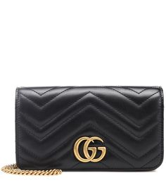 Gucci Gg Marmont Mini Quilted Leather Shoulder Bag In Black Gucci Marmont, Gg Marmont, Gucci Shoulder Bag, Leather Shoulder Bag, Designer Shoulder Bags, Mini Crossbody Bag, Backpacker, Quilted Leather, Outfits