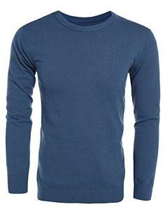 Fseason-Men Stay Warm Original Fit Solid Color Pullover Tees Top