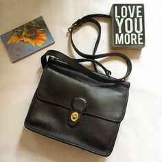 """Coach Willis Like New - Black Leather and Brass Ugh! Trying to downsize """"for real"""" this time! 😁 So torn...love this classic handbag from Coach. Black sturdy leather, crossbody style with brass hardware. Suede inside. Thick leather. Hafta sell... Coach Bags Crossbody Bags"""