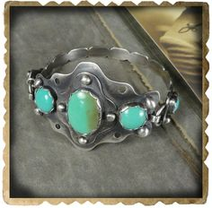 Pretty rad, not-too-southwesterny take on the turquoise cuff.