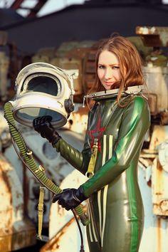 Russian Jet suit space suit Heavy Rubber by #Latex Crazy