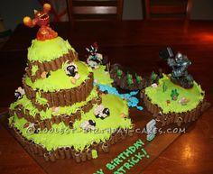 Coolest Skylanders Cake... This website is the Pinterest of birthday cake ideas