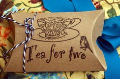 25 Wedding Tea Favors with Tea Cup Motif via Etsy at Etsy/shop/OwensAcres