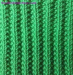 Bulging rib - this stitch is a bit bulky, useful for beanies or scarves