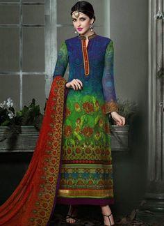 Digital  Printed  Churidar Suit