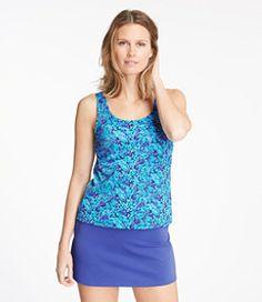 #LLBean: BeanSport Swimwear, Tankini Top Scoopneck Floral Print