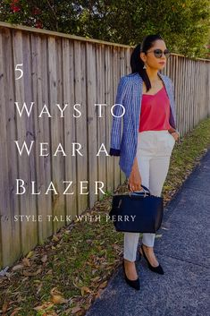 I'm so excited to talk about blazers today. A feminine blazer is must have item in every women's wardrobe. When we talk about blazers it always good to mix and match your outfits with blazer. Read here how to wear a blazer in 5 ways. Blazer Outfits, Blazer Fashion, Oversized Blazer, Must Have Items, Wardrobe Basics, Personal Stylist, Mix N Match, 5 Ways, Your Style