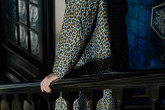 """""""Navy caban trousers contrast with a leopard print intarsia knit cardigan in cashmere; Leighton House Museum, Cereal Magazine, Red Leopard, Cotton Suit, Ikat Fabric, Double Breasted Blazer, Black Tie, Knit Cardigan, Chambray"""