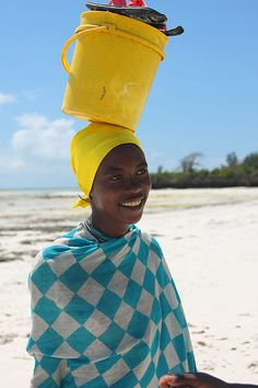 Africa | Portrait of a woman, Zanzibar