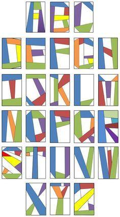 free alphabet quilt block pattern - Google Search