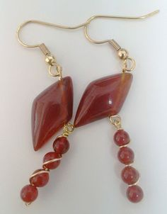 agate beads earrings