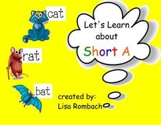 Phonics Short A SmartBoard Lesson Primary Grades (.notebook file) ***FREE***