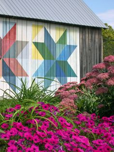 Quilt Barn Backdrop...I would LOVE one painted on one of our barns....so spectacular!
