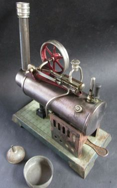 Works when tested on air. Base 19 by high. Everything moves freely and whistle works. Steam Tractor, Steam Engine, Locomotive, Tractors, Engineering, Germany, Ebay, Electrical Engineering, Deutsch
