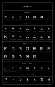 Glyphs Tattoo Ideas