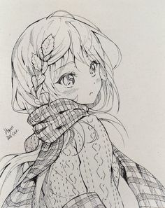 Inktober 7 by hyan-doodles anime and drawing in 2019 anime art, anime ske. Anime Chibi, Art Anime, Anime Kawaii, Anime Art Girl, Manga Anime, Anime Drawings Sketches, Anime Sketch, Manga Drawing, Cute Drawings