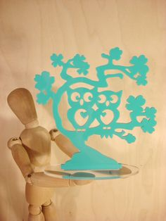 Owl Cake Topper TURQUOISE Owl Love You Forever by BungalowGlow,