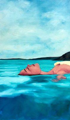 Eisenhauer Gallery of Edgartown, MA Figure Painting, Painting & Drawing, Foto Pop Art, Art Plage, Mode Poster, Underwater Painting, Water Art, Art Et Illustration, Jolie Photo
