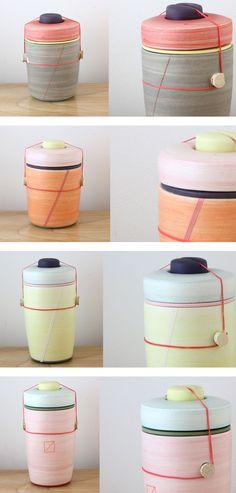 Utilitarian ceramic by BFiess Ceramic Pottery, Ceramic Art, Bento Box, Lunch Box, Keramik Design, Pottery Designs, Pottery Ideas, Modern Ceramics, Decorative Tile