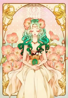 Sailor Neptune as a goddess