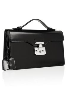 Gucci|Lady Lock leather clutch|NET-A-PORTER.COM