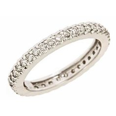 14K White Gold Diamond Eternity Wedding Band Ring 5 (0.60cttw, VS Clarity, F Color) Wedding Ring Finger REVIEW