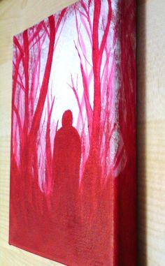 Acrylic Painting On Canvas  Original  Woodland Figure by Chep, £30.00