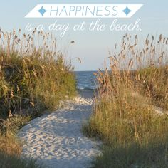 Happiness is a day at the beach. #beach #quotes #palmettodunes