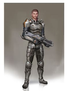 Alistair (Mass Age) by Andrew Ryan.  Too bad Bioware hadn't thought to suit him up alongside Shep, Kaidan, Garrus, and Tali.  He cuts a nice figure in the Alliance armor