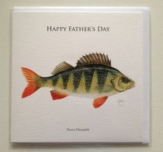 Father's Day Perch fishing card - Folksy