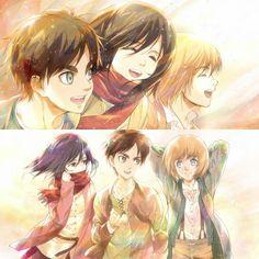 Armin, Eren X Mikasa, Attack On Titan Comic, Attack On Titan Fanart, Avatar Azula, Attack On Titan Aesthetic, Kirara, Eremika, Image Manga