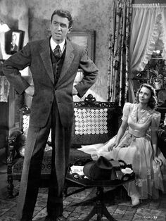 20th-century-man:  James Stewart, Donna Reed / production still from Frank Capra's It's a Wonderful Life (1946)