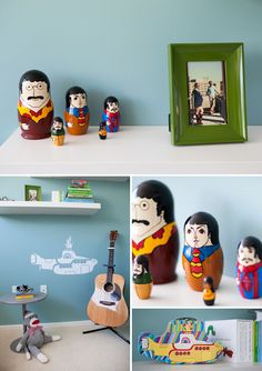 Beatles Nursery, Bedroom Shelves, Baby Overalls, Matryoshka Doll, Themed  Nursery, Boy Nurseries, Nursery Ideas, Bedroom Ideas, Future Baby. Rock N  Roll ...