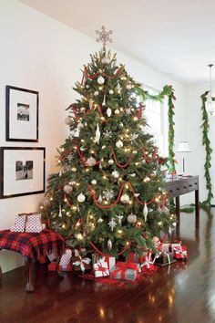 Our Favorite Christmas Trees: Classic Red & Silver