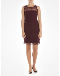 Sleeveless lace dress - Burgundy Cocktail dresses