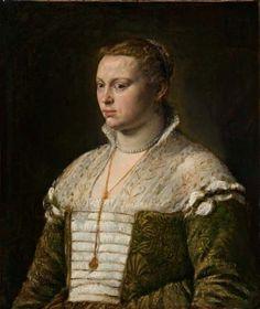 Jacopo Bassano (Jacopo da Ponte), possibly Leandro Bassano (Italian, 1510-1592) ~ Portrait of a Lady ~ after 1570 ~ oil on canvas ~ The Norton Simon Foundation.