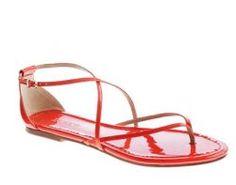 bright patent sandals