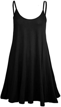 d2c06121f1b Forever Womens Plain Sleeveless Strappy Swing Dress at Amazon Women s  Clothing store