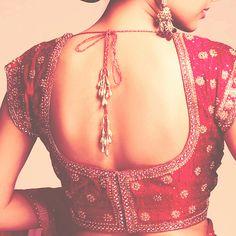so gorgeous: low back silk choli
