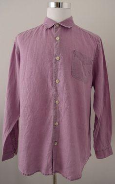 Tommy Bahama Men's Shirt Light Purple Relax Fit Linen Long Sleeve Size L #TommyBahama #ButtonDown