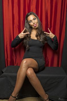 Paula Garces gets silly  (Photo Courtesy of Victoria Will / TV Guide Magazine)