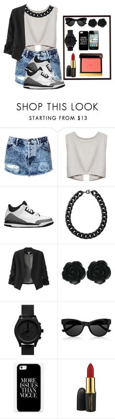 """swag out"" by mimicherelus ❤ liked on Polyvore featuring Topshop, Retrò, Monki, Dollydagger, The Row, MAC Cosmetics and Tom Ford"