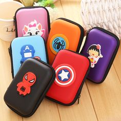 Cheap Price Novelty Cartoon Silicone Coin Purse Monederos Para Mujer Cute Anime Mini Earphone Holder Organizer Bags Eva Zipper Wallets Bringing More Convenience To The People In Their Daily Life Luggage & Bags Coin Purses & Holders