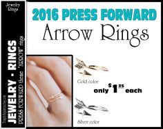 "Arrow Rings Pack of 10 rings  only 1.25 each ""Press Forward with a Steadfastness"" 2016 mutual theme silver and gold  YW Young Women charms by templesquares on Etsy"