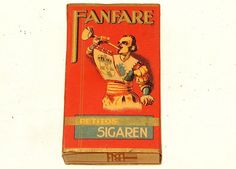 Fanfare Band Music Cigar Pocket Tobacco Pack no Tin 1930s, UNOPENED!