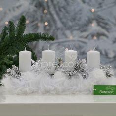 Adventní svícen ledový Květinářství Floresco Vyrobila Šárka Pleskačová Pillar Candles, Candles